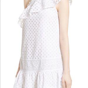 Tory Burch 1 Shoulder Zoe Lace White Dress